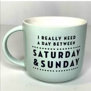 Threshold Stoneware Coffee Mug Day Between Sat and